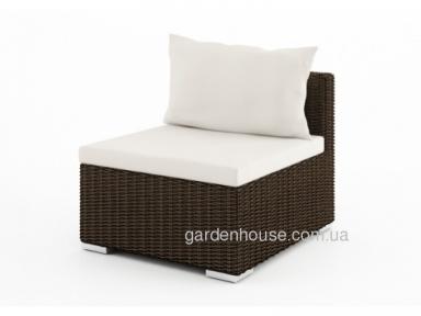 Садовый диван Venezia Royal из искусственного ротанга, центральный модуль