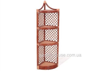 Плетеная угловая этажерка из ротанга 151 см