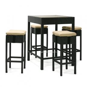 Комплект барной мебели Stella из техноротанга, темно-коричневый