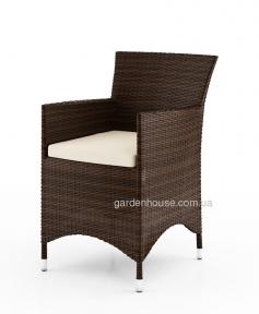 Кресло обеденное Amanda из искусственного ротанга, коричневый