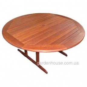 Обеденный садовый стол Vienna Round из мербау Ø 155 см
