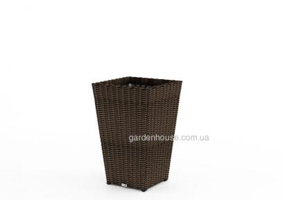 Ваза для сада Scalota Royal из техноротанга 41х41х60 см (белый, бежевый, серый, коричневый)
