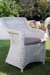 Садовое кресло Матиник из искусственного ротанга, белое