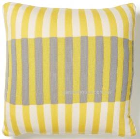 Декоративная подушка Aqua из трикотажа 45x45 см, желтый