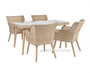 Столовый набор садовой мебели Retro из искусственного ротанга