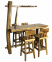 Барный комплект Sevilla: стол и 4 стула из тика