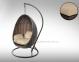Кресло подвесное Kokon Modern из искусственного ротанга, коричневый