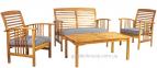 Комплект садовой мебели Finlay из массива акации с подушками