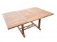 Стол обеденный раскладной Deli из тика 120/180*120 см