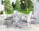 Обеденный комплект Рапалло & Трамонто из техноротанга: стол 160 см и 6 стульев с подлокотниками, белый