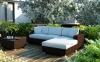 Угловой диванный набор Milano Modern из техноротанга, коричневый