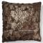 Подушка квадратная Cubes из искусственного меха 45x45 см, коричневый