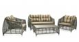 Садовый комплект мебели для отдыха Brindisi из искусственного ротанга, серый