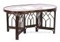 Обеденный овальный стол из натурального ротанга на 6 персон