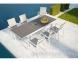 Обеденный комплект мебели: стол Toledo и 6 стульев Alicante из алюминия