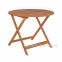 Садовый стол Вуди из дерева меранти Ø 90 см