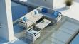 Модульный комплект мебели Barcelona из алюминия