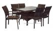 Обеденный комплект Wicker из искусственного ротанга: стол 200 см и 8 стульев