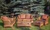 Комплект для отдыха с 2-х местным диваном Estana Premium из натурального ротанга