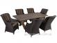Обеденный комплект мебели Geneva: стол и 6 кресел из искусственного ротанга