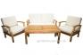 Набор мебели с двухместным диваном Selbi из тика