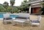 Садовый комплект для отдыха Victoria из искусственного ротанга, серый