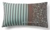 Прямоугольная декоративная подушка Agua, бирюзово-коричневый