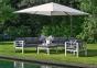 Садовый зонт SolarFlex T1 3х3 м с основанием Modena (белый, коричневый, антрацит)