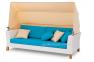 Двухместный диван Vanessa из искусственного ротанга с навесом