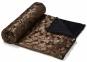 Плед Cubes из искусственного меха 120x160 см, коричневый