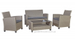 Комплект уличной мебели Malmo из искусственного ротанга, серо-бежевый