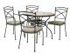 Столовый комплект металлической  мебели Riviera: 4 стула, стол с мозаичной столешницей