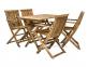 Столовый комплект садовой мебели Finlay из акации: стол и 4 стула с подлокотниками