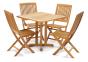 Столовый комплект мебели: стол Quadro 80х80 см и 4 стула из тика